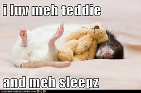 i luv meh teddie  and meh sleepz