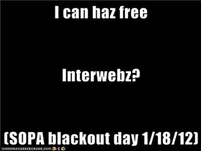 I can haz free Interwebz? (SOPA blackout day 1/18/12)