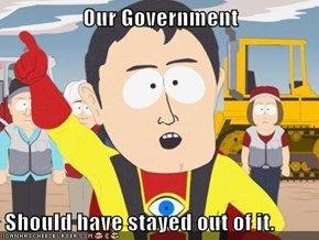Our Government  Should have stayed out of it.