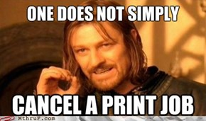Only after you print 17 half pages will you be allowed to cancel