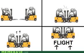 Troll Physics: Flight