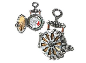 Solar-Powered Steampunk Pocket Watch of the Day