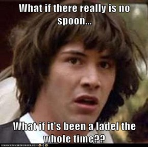 What if there really is no spoon...  What if it's been a ladel the whole time??