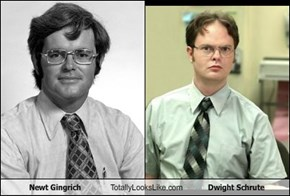 Newt Gingrich Totally Looks Like Dwight Schrute