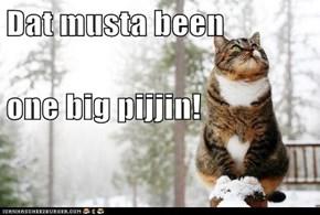 Dat musta been one big pijjin!