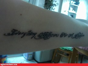 Except This Tattoo