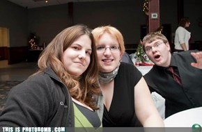 A Wedding Reception Photobomb