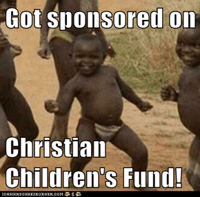 Got sponsored on  Christian Children's Fund!