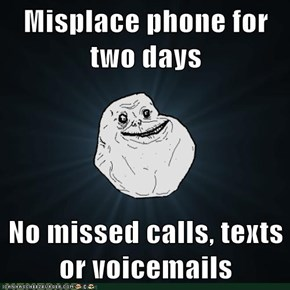 "Forever Alone: That Sound was Just the ""Low Battery"" Noise"
