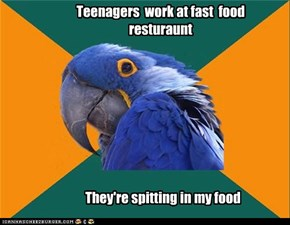 Teenagers  work at fast  food  resturaunt