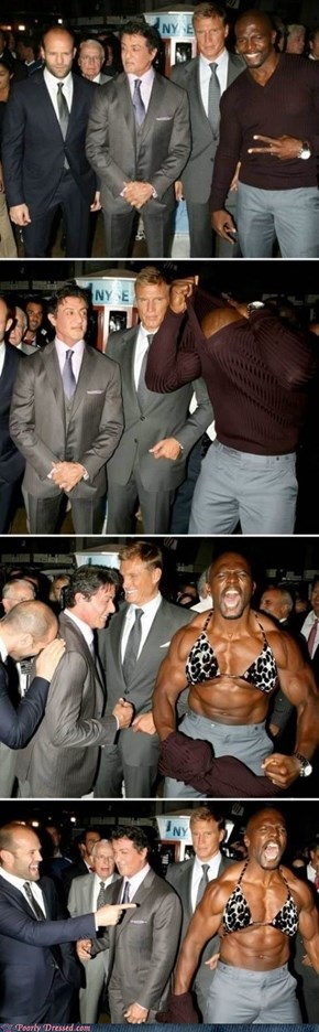 Oh Terry Crews, you're so crazy.