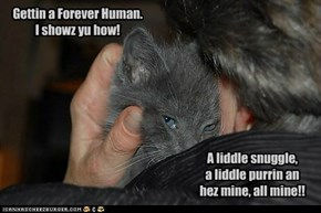 Gettin a Forever Human.  I showz yu how!