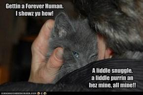 Gettin a Forever Human.  I showz yu how!