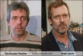 This Russian Plumber Totally Looks Like Hugh Laurie
