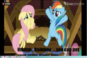 COME ON FLUTTERSHY ITS NOT THAT..............NEVERMIND