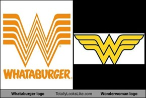 Whataburger logo Totally Looks Like Wonderwoman logo