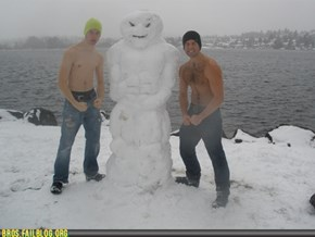 Someone used their Seattle Snow Day to build a Broman