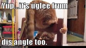 Yup...it's uglee frum  dis angle too.