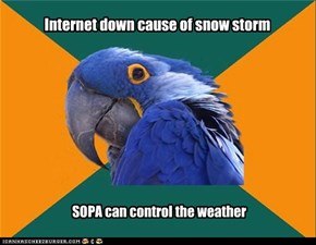 Internet down cause of snow storm