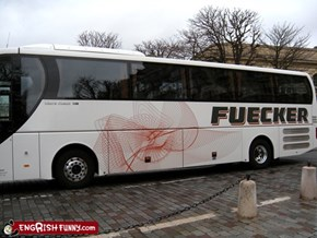 Engrish Funny: Good thing that bus has tinted windows
