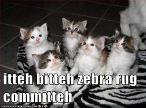 itteh bitteh zebra rug committeh