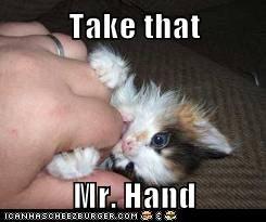 Take that  Mr. Hand