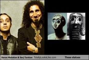 Daron Malakian & Serj Tankian Totally Looks Like These statues