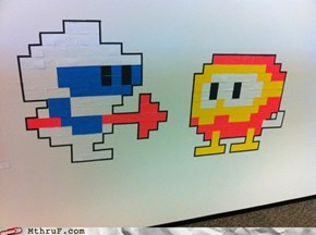 Eight-Bit Post-It Art