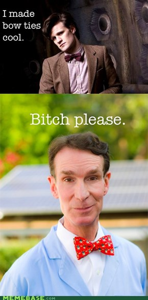 Bill Nye, always one step forward