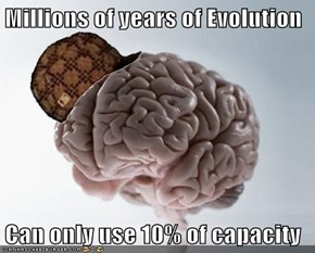 Millions of years of Evolution  Can only use 10% of capacity