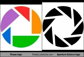 Picasa logo Totally Looks Like Aperture Science logo