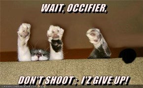 WAIT, OCCIFIER,  DON'T SHOOT ;  I'Z GIVE UP!