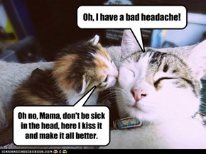 Oh, I have a bad headache!