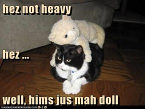 hez not heavy hez ... well, hims jus mah doll