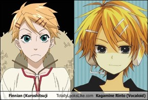 Finnian (Kuroshitsuji Totally Looks Like Kagamine Rinto (Vocaloid)