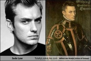 Jude Law Totally Looks Like Willem van Oranje (Prince of Orange)