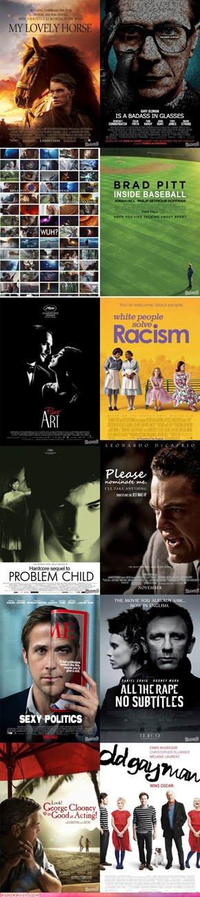 If 2012's Oscar-nominated Movie Posters Told the Truth