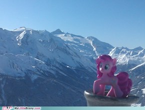 Pinkie Pie on top
