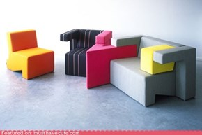 To Gather Tetris-Inspired Furniture