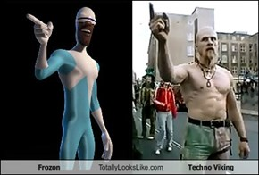 Frozon Totally Looks Like Techno Viking