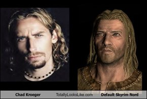 Chad Kroeger Totally Looks Like Default Skyrim Nord