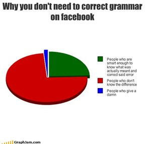 Why you don't need to correct grammaron facebook