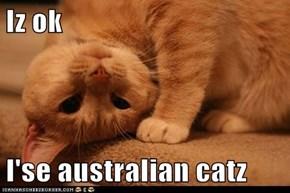 Iz ok   I'se australian catz
