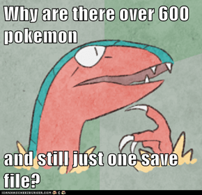 Why are there over 600 pokemon  and still just one save file?