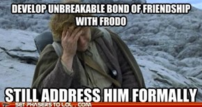 Lord of the Rings - Socially Awkward Sam