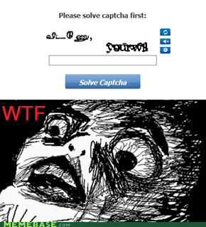 Type Provocative Things Until Captcha Concedes