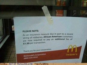 McDonalds trollin'
