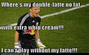 Where's my double-latte no fat  with extra whip cream!!! I can't play without my latte!!!