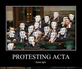 PROTESTING ACTA
