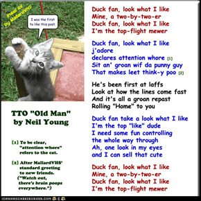 """Duck Fan"" (TTO ""Old Man"" by Neil Young)"